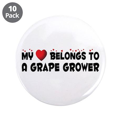 """Belongs To A Grape Grower 3.5"""" Button (10 pac"""