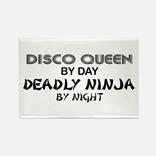 Disco Queen Deadly Ninja by Night Rectangle Magnet