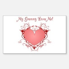 My Grammy Loves Me Heart Rectangle Decal