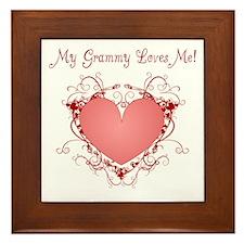 My Grammy Loves Me Heart Framed Tile