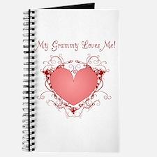 My Grammy Loves Me Heart Journal