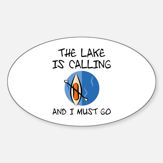 The Lake Is Calling Sticker (Oval)