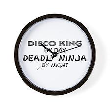Disco King Deadly Ninja by Night Wall Clock