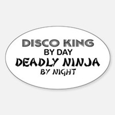 Disco King Deadly Ninja by Night Oval Decal