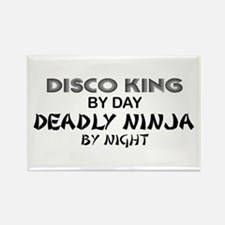 Disco King Deadly Ninja by Night Rectangle Magnet