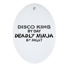 Disco King Deadly Ninja by Night Oval Ornament