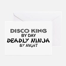 Disco King Deadly Ninja by Night Greeting Cards (P