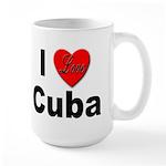 I Love Cuba Large Mug