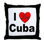 I Love Cuba Throw Pillow