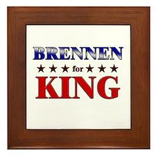 BRENNEN for king Framed Tile