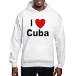 I Love Cuba (Front) Hooded Sweatshirt