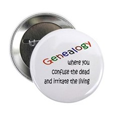 "Genealogy Confusion (blk) 2.25"" Button"