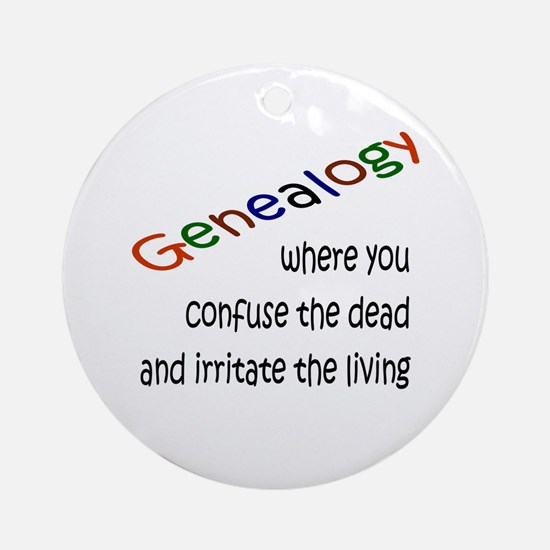 Genealogy Confusion (blk) Ornament (Round)
