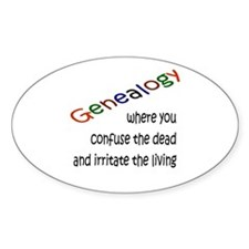 Genealogy Confusion (blk) Oval Bumper Stickers