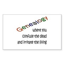 Genealogy Confusion (blk) Rectangle Decal