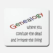 Genealogy Confusion (blk) Mousepad