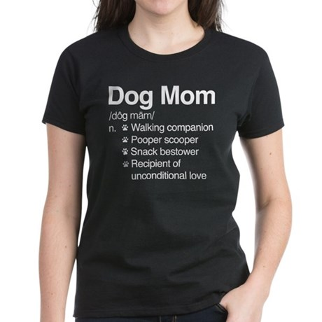 Dog Mom Women's Dark T-Shirt