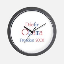 Dale for Obama 2008 Wall Clock