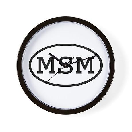 MSM Oval Wall Clock