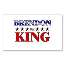 BRENDON for king Rectangle Decal