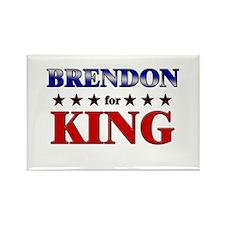 BRENDON for king Rectangle Magnet