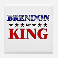 BRENDON for king Tile Coaster