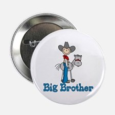"Stick Cowboy Big Brother 2.25"" Button"