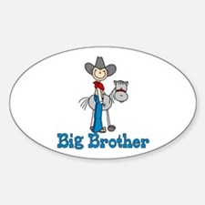 Stick Cowboy Big Brother Oval Decal
