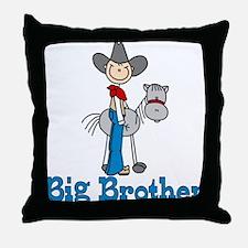 Stick Cowboy Big Brother Throw Pillow