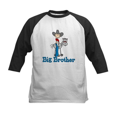 Stick Cowboy Big Brother Kids Baseball Jersey