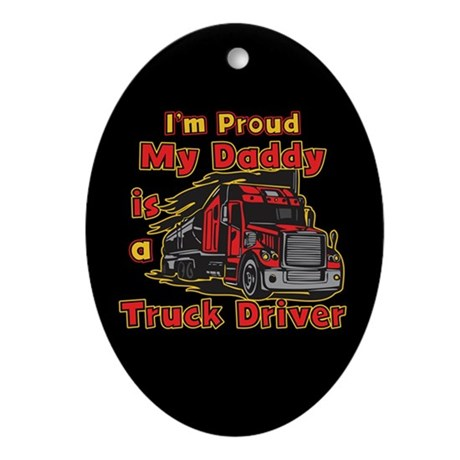 Proud of Daddy Oval Ornament
