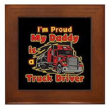 Proud of Daddy Framed Tile