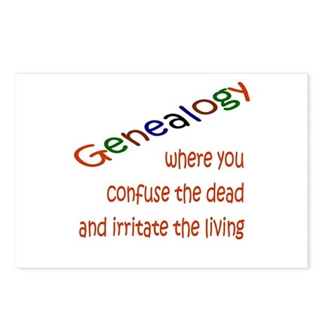 Genealogy Confusion (red) Postcards (Package of 8)