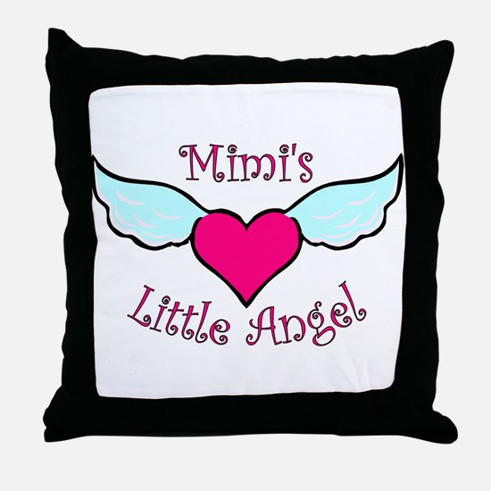 Mimi's Little Angel Throw Pillow