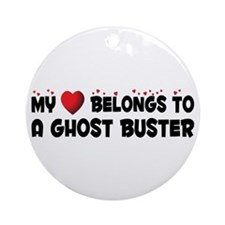 Belongs To A Ghost Buster Ornament (Round)