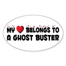 Belongs To A Ghost Buster Oval Decal