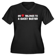 Belongs To A Ghost Buster Women's Plus Size V-Neck