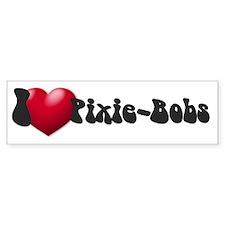 """I Love PixBobs!"" Bumper Bumper Sticker"