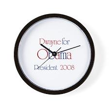Dwayne for Obama 2008 Wall Clock
