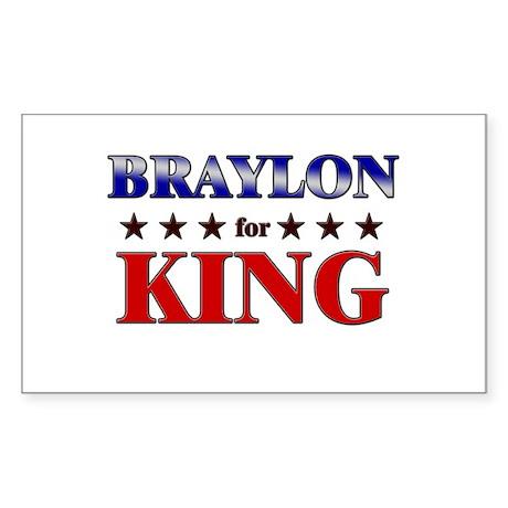 BRAYLON for king Rectangle Sticker
