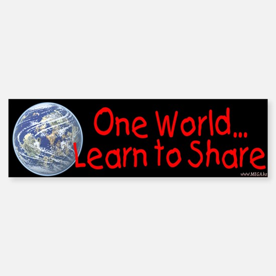 One World - Learn to Share Bumper Bumper Bumper Sticker