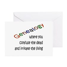 Genealogy Confusion (blk) Greeting Cards (Pk of 10
