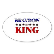 BRAYDON for king Oval Decal