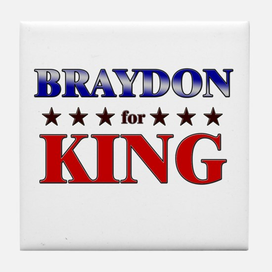BRAYDON for king Tile Coaster