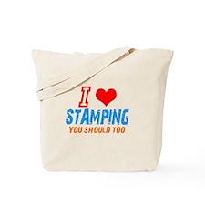 I love Stamping Tote Bag