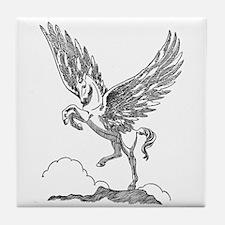 Pegasus Illustration Tile Coaster