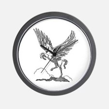 Pegasus Illustration Wall Clock