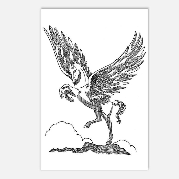 Pegasus Illustration Postcards (Package of 8)