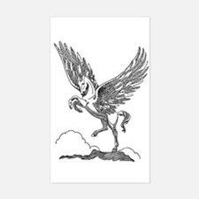 Pegasus Illustration Rectangle Decal
