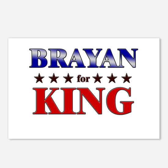 BRAYAN for king Postcards (Package of 8)